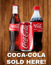 Coca-Cola Beverages Flyer Template
