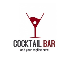 cocktail bar logo design โลโก้ template