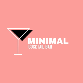 cocktail bar logo design template Логотип