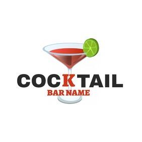 cocktail bar name logo template