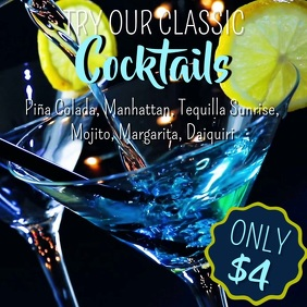 Cocktail Bar Promo Video Template