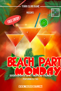 Cocktail party poster - Summer & Beach themed
