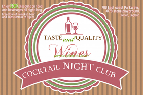 Cocktail Club Poster Template