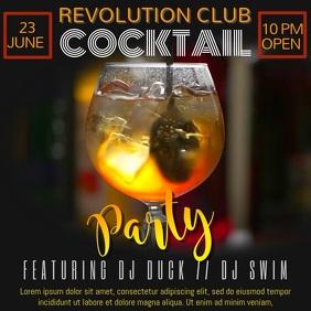 Cocktail DJ Party Video Template Kvadrat (1:1)