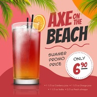 Cocktail Drink Ad Instagram Image template