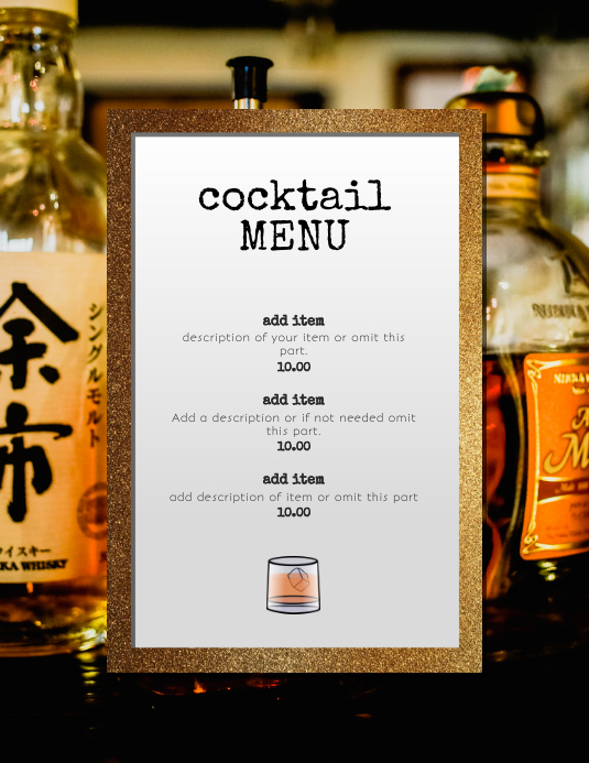 Cocktail Drinks LSpecials Happy Hour template