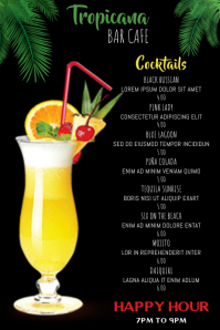 Cocktail Drinks Menu Template