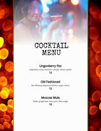 cocktail drinks menu template