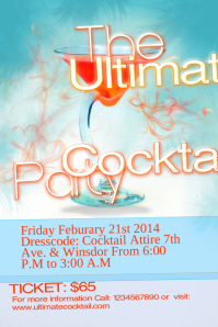 Cocktail Event Flyer Template
