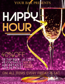 Cocktail flyers templates,bar flyers,Happy hour flyers