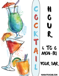 COCKTAIL HOUR Flyer (US Letter) template