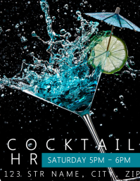 Cocktail Hour Flyer template