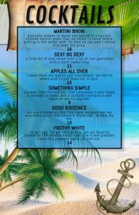 cocktail list featured menu Media Página Ancho template