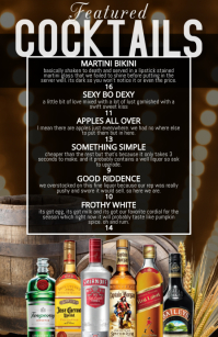 cocktail list featured menu 半版 template