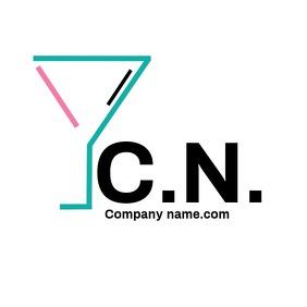 Cocktail logo bar logo design