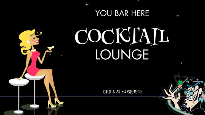 COCKTAIL LOUNGE (WITH OPTIONAL CHILL MUSIC) Digitale Vertoning (16:9) template