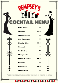 Cocktail Menu A4 template