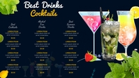 cocktail menu Tampilan Digital (16:9) template