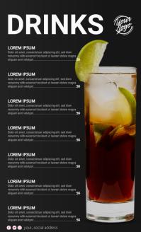 Cocktail Menu Oficio US template