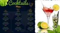 cocktail menu Digital Display (16:9) template