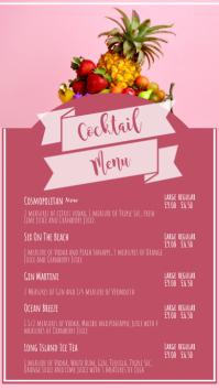 cocktail menu digital display