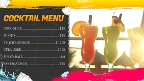 Cocktail Menu Digital Display Video template