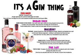 Cocktail Menu - Gin
