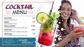 Cocktail Menu Landscape Digital Display Video