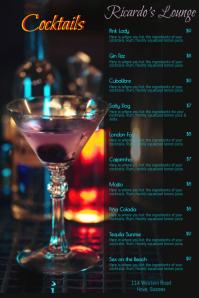 Cocktail Menu Poster Template