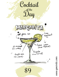 Cocktail of the Day Margarita Flyer template