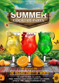 cocktail party A6 template
