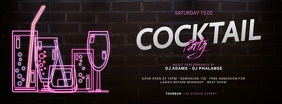 Cocktail Party Facebook cover template