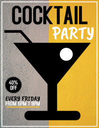Cocktail party flyer,event flyer,Party flyer