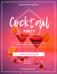Cocktail Party Flyer Design Template