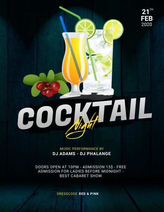 copy of cocktail party flyer design template