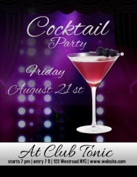 cocktail party flyer template digital Pamflet (VSA Brief)