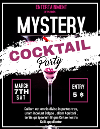 cocktail party mystery flyer Volante (Carta US) template