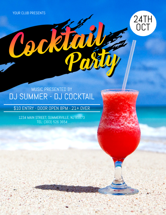 copy of cocktail party flyer