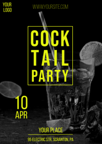 Cocktail Party Stylish Promo Flyer Design 2