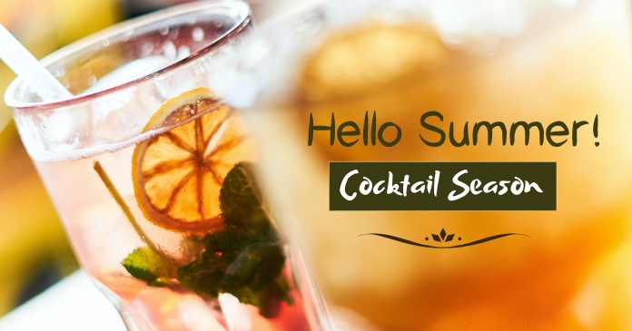 Cocktail Post Facebook Shared Image template