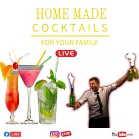 cocktail poster template Publicação no Instagram