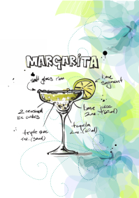 Cocktail wall art A2 template