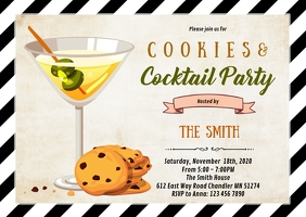 Cocktails cookies party invitation