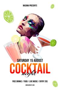 Cocktails Night Flyer