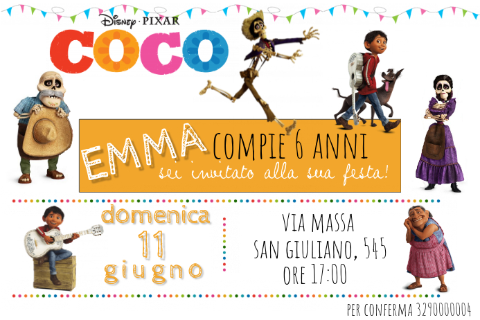 Coco Birthday Invitation Template | PosterMyWall