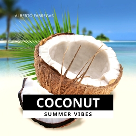 Coconut Beach Summer Vibes CD Cover Art Albumcover template