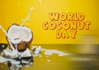coconut day Postcard template