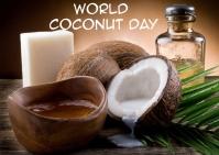 coconut day 明信片 template