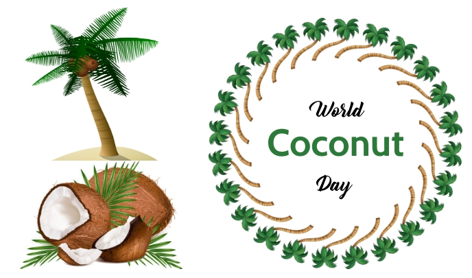 Coconut Day Tag template