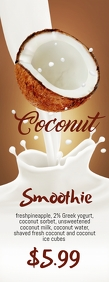 Coconut Smoothie Halfbladsy Brief template